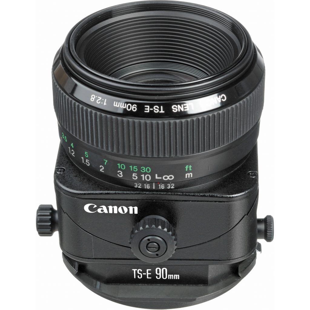 A canon tilt-shift lens, good for food photography