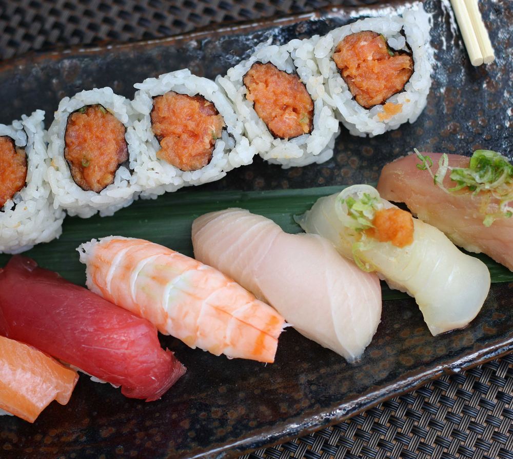 A picture of sushi taken by a professional food photographer