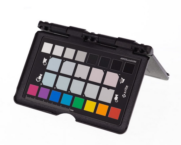 a color checker for testing white balance in digital food photography