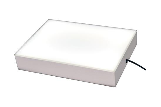 An artist's lightbox used by professiona food photographers