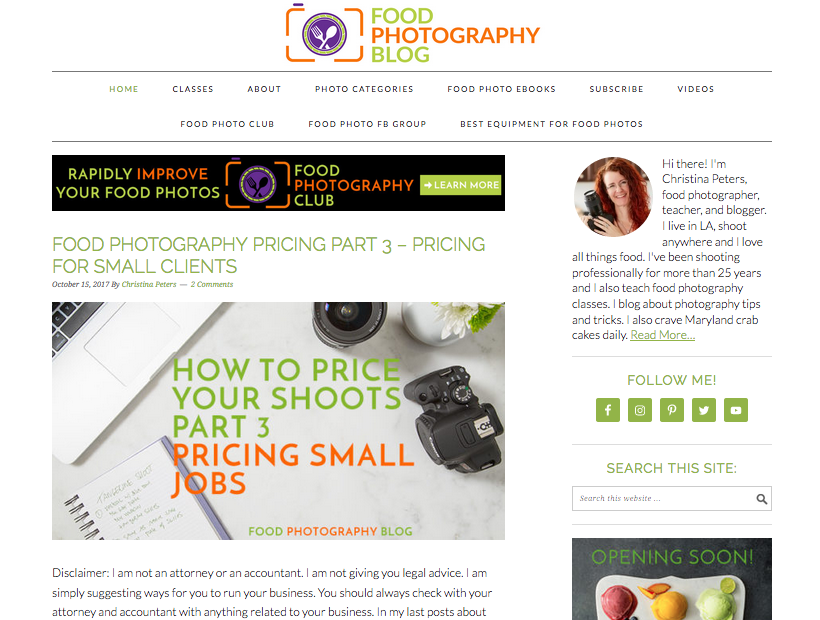The Food Photography Blog