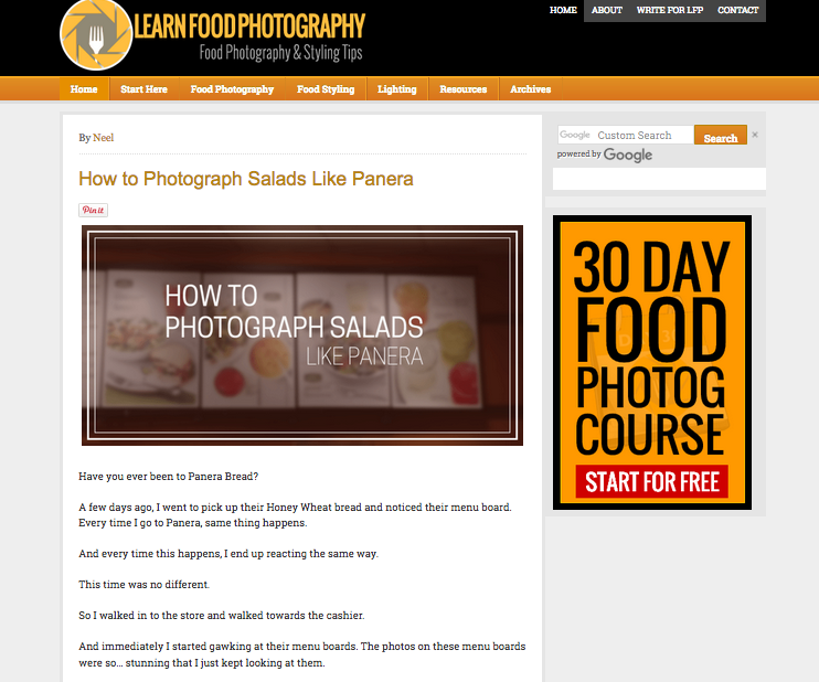Learn Food Photography, not one of the best food photography blogs