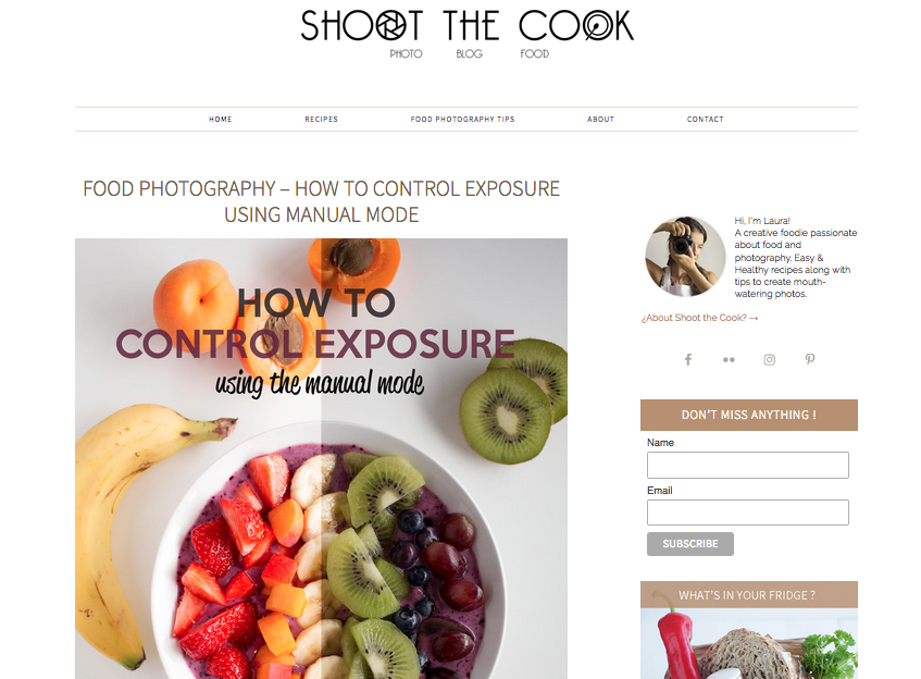 Shoot The Cook food photography blogs