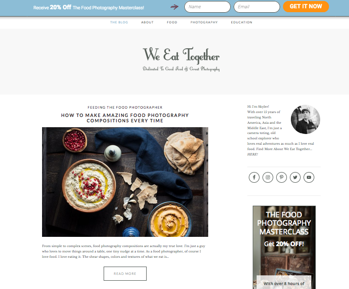 We Eat Together, one of the best food photography blogs