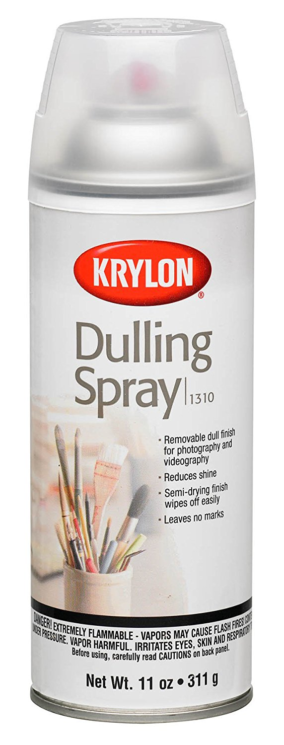 Krylon dulling spray is often used in food photography styling