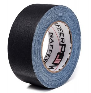 A roll of gaffer tape for food photography