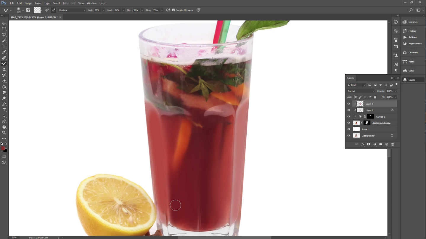 food photo retouching tutorial